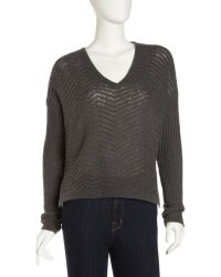 Helmut Lang Cropped Cashmere-blend Pullover - Lyst
