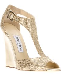 Jimmy Choo Tweak Wedge Sandal - Lyst