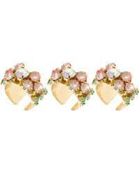 Asos Multipack Flower Stone Rings - Lyst