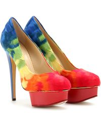 Charlotte Olympia Feather Platform Pumps - Lyst