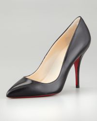 Christian Louboutin Batignolles Leather Pointed Red Sole Pump - Lyst