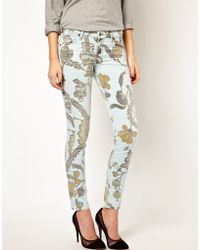 Citizens of Humanity Printed Skinny Jeans - Lyst