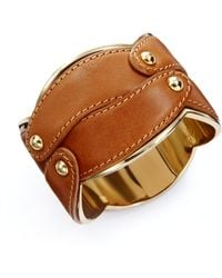 Max Mara - Scalloped Leather Cuff - Lyst