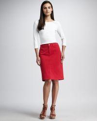 Not Your Daughter's Jeans - Emma Denim Skirt - Lyst