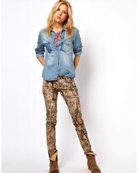 Ralph Lauren Woodland Print Skinny Jeans - Lyst
