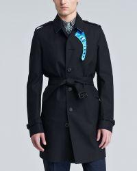 Burberry Prorsum - Leathertrim Cotton Trenchcoat - Lyst