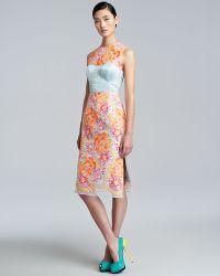 Erdem Floralembroidered Sheath Dress - Lyst