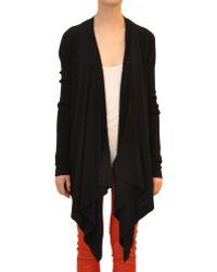 Givenchy Asymmetric Woolen Cardigan black - Lyst