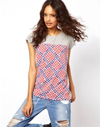 ASOS Collection Asos Tshirt with Geo Block Print - Lyst