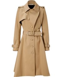 Bouchra Jarrar | Beige Cotton Tailored Trench Coat | Lyst
