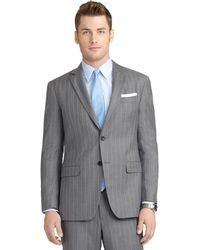Brooks Brothers Milano Fit Mini Bead Double Stripe Suit - Lyst