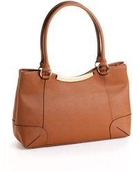 Calvin Klein Leather Shoulder Bag brown - Lyst