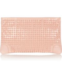 Christian Louboutin - Loubiposh Spiked Patent Leather Clutch - Lyst