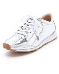 Elizabeth And James Evva Metallic Sneakers silver - Lyst