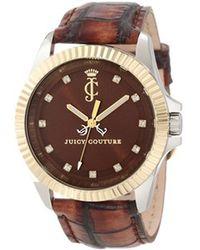 Juicy Couture - Ladies Stella Brown Strap Watch - Lyst