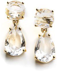 Kate Spade Double Drop Earrings - Lyst
