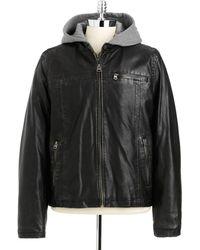 Levi's Hooded Motorcycle Jacket - Lyst