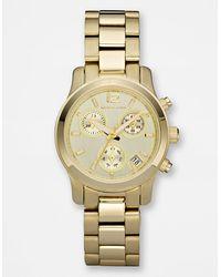 Michael Kors Ladies Mini Runway Chronograph Watch - Lyst