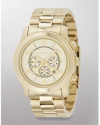 Michael Kors Gold-Plated Stainless Steel Chronograph Watch - Lyst