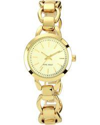 Nine West - Ladies Round Open Link Bracelet Watch - Lyst