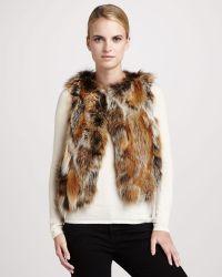 Pologeorgis Patchwork Fox Fur Vest - Lyst