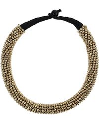 Topshop Mini Ball Collar Necklace gold - Lyst
