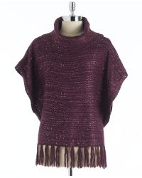 Vintage America - Sequin Knit Poncho Top - Lyst