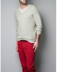 Zara Structured Sweater - Lyst