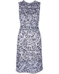 Bottega Veneta Sleeveless Printed Dress - Lyst