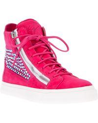 Giuseppe Zanotti Studded Hi-Top Sneakers - Lyst