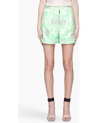 Matthew Williamson Lime Green Tailored Jacquard Shorts - Lyst