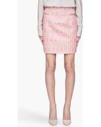 Matthew Williamson Fluorescent Pink Woven Mini Skirt - Lyst
