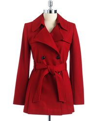 Via Spiga Petites Double Breasted Cropped Trench Coat - Lyst