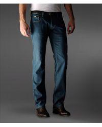 Armani Regular Fit Low Cut Jeans - Lyst
