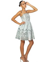 Blugirl Blumarine Embroidered Techno Organza Dress - Lyst