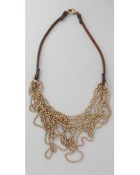 Club Monaco - Messy Ball Chain Necklace - Lyst