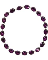 Olivia Collings - Amethyst Riviere Necklace - Lyst