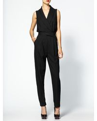 Rachel Zoe Edith Shawl Collar Jumpsuit - Lyst