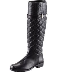 Stuart Weitzman - Quilted Leather Boot - Lyst