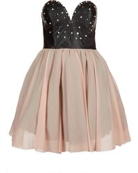 Topshop Studded Prom Dress - Lyst