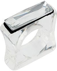 TOPSHOP - Bauhaus Perspex Ring - Lyst