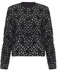 Diane von Furstenberg Zandy Lace Jacket black - Lyst