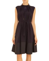 Marni Pleated Front Sleeveless Dress - Lyst