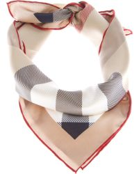Burberry Brit Checked Silk Scarf - Lyst