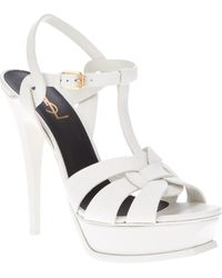 Saint Laurent 'Tribute' Sandals - Lyst