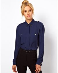 ASOS Collection Asos Shirt with Utility Button Detail - Lyst