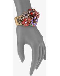 Oscar de la Renta Resin Floral Cuff Bracelet multicolor - Lyst