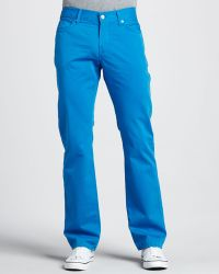 7 For All Mankind Slimmy Twill Pants - Lyst