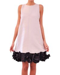 Albino Cotton and Silk Dress - Lyst