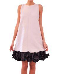 Albino Cotton and Silk Dress gray - Lyst
